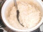 ...og kogte ris.