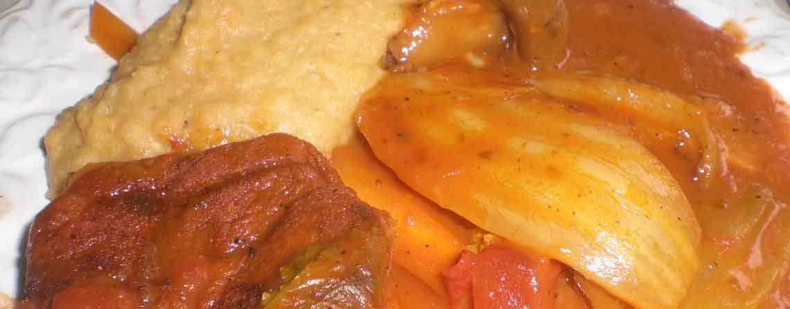Kalveossobuco på grill med rød linsemos