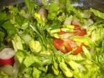Tilbered salaten.