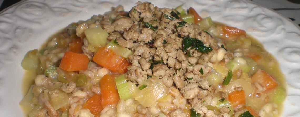 Korn, ærter og linser med grøntsager