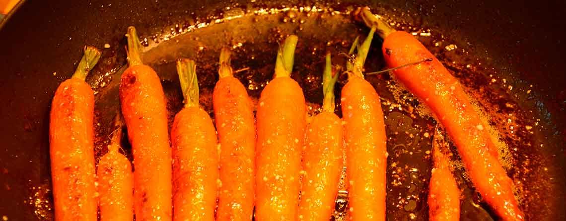 Stegte gulerødder