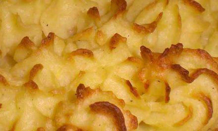 Bagt kartoffelmos