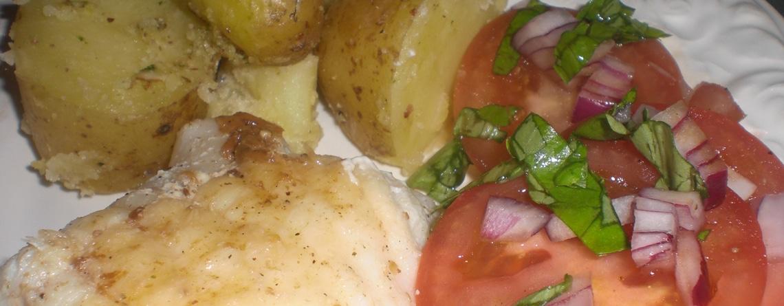 Havtaskehaler med kartofler i salviepesto
