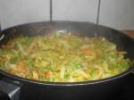 Damp grøntsagerne møre.