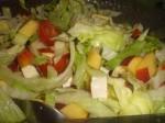 Servér salat til.