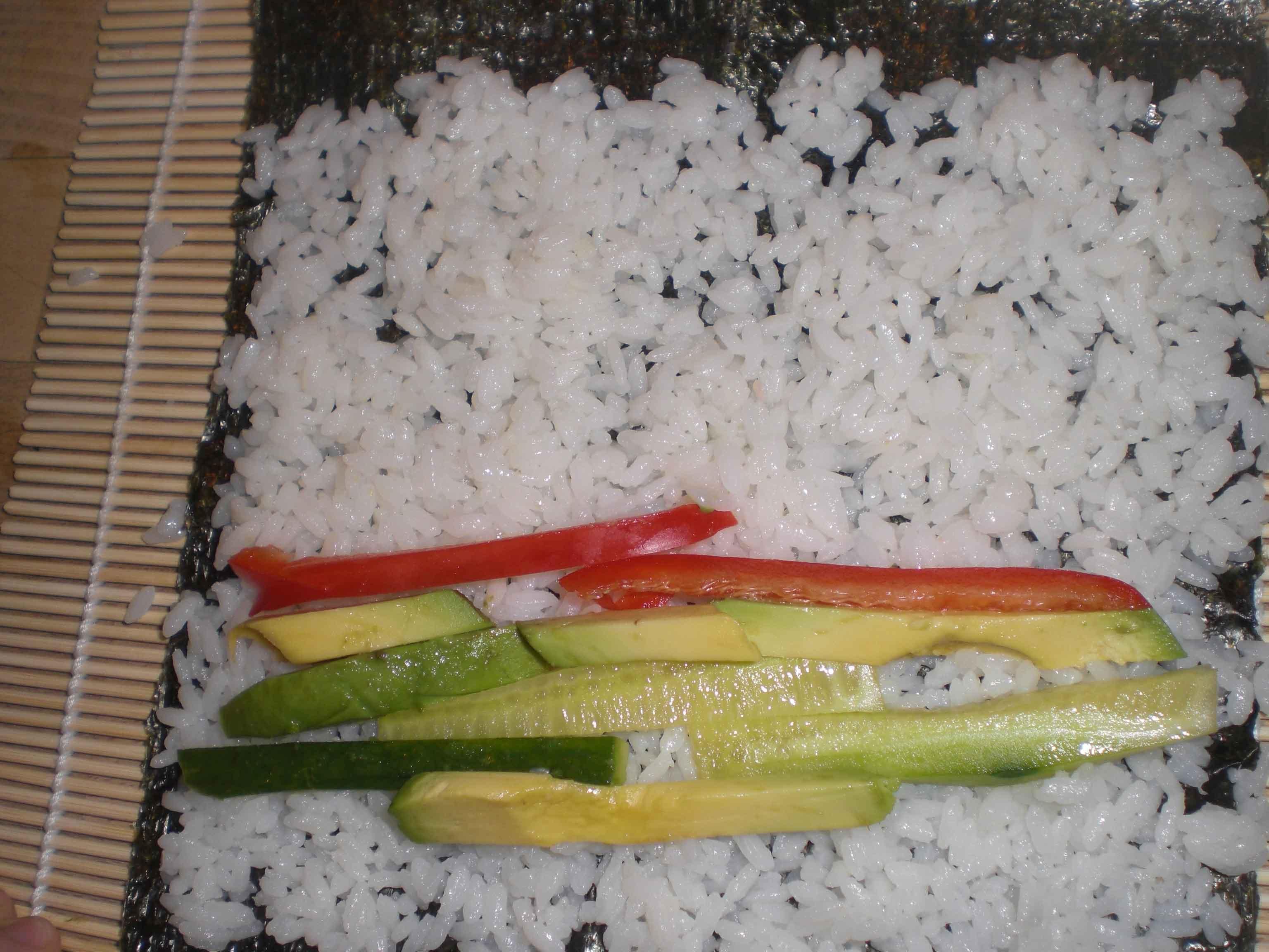 Læg grøntsagsstave på.