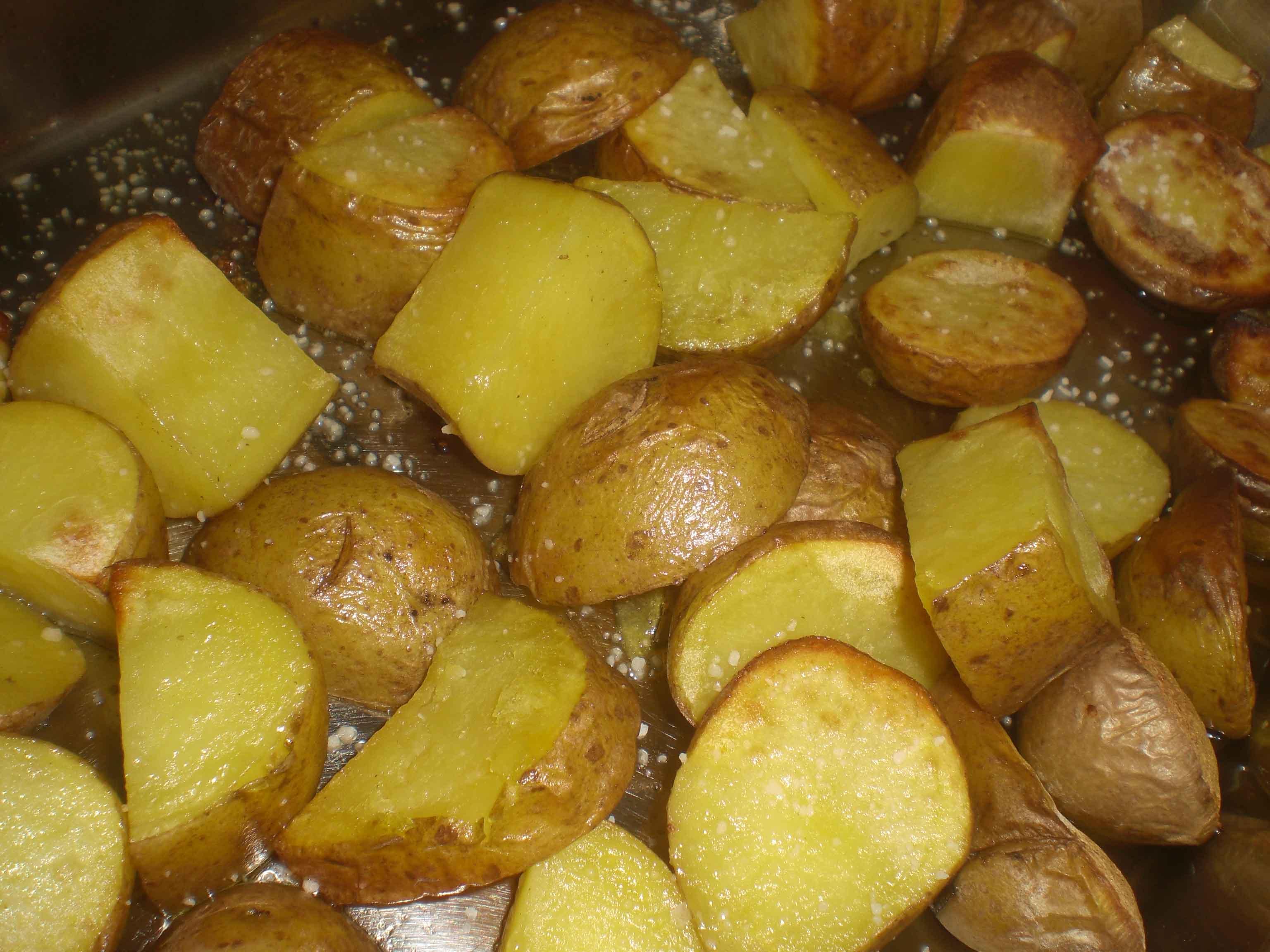 Servér med kartoflerne...