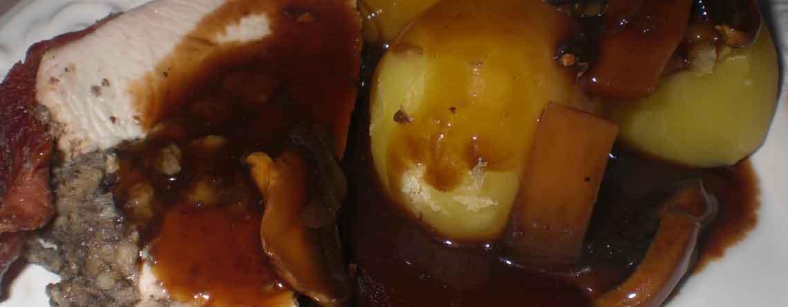 Champignonfarseret kalkunbryst