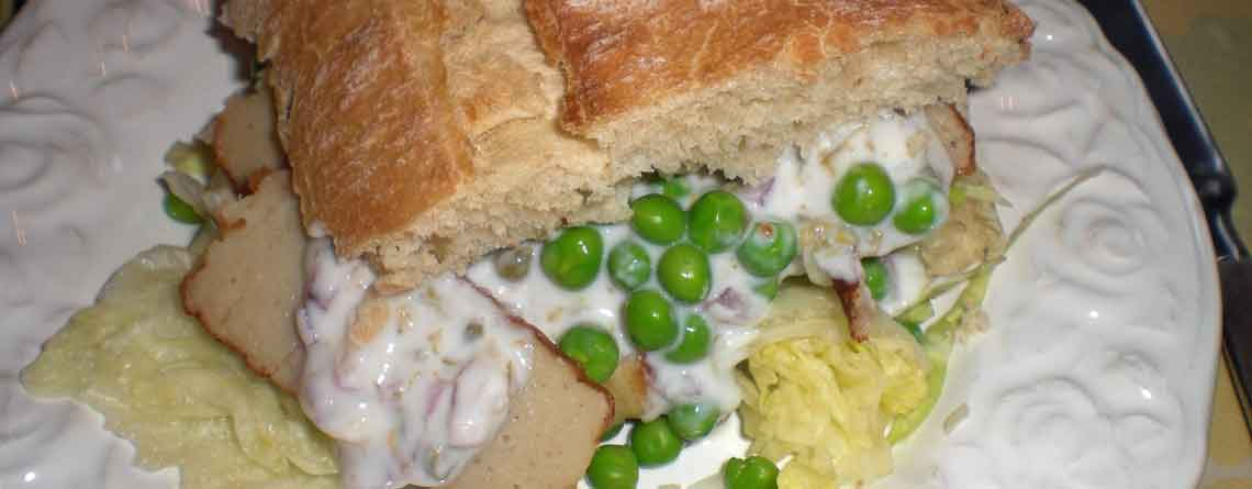 Fiskefrikadellesandwich