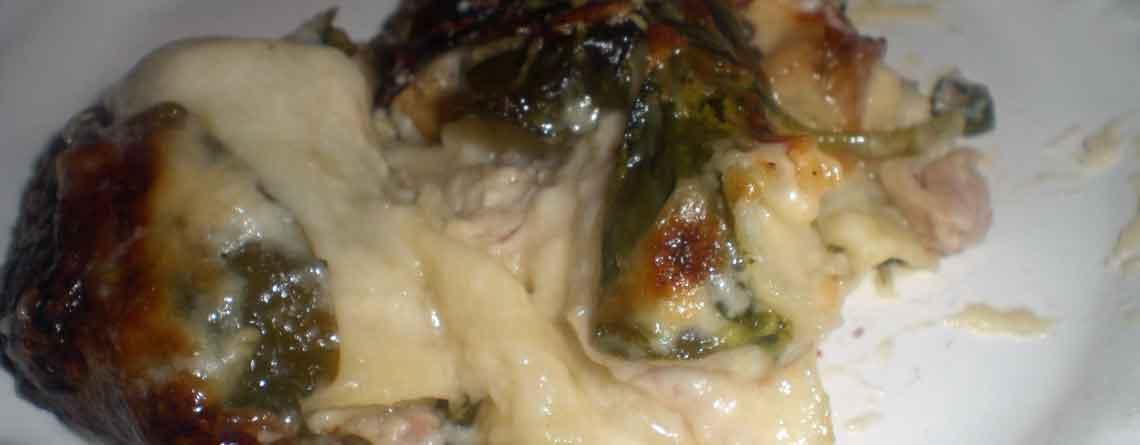 Lasagne med kylling og spinat