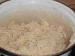 Kog risene efter anvisningen på posen