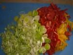 Snit grøntsagerne.