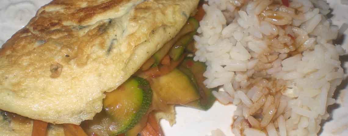 Omelet med tang