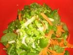 Bland alle grøntsagerne sammen.