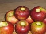Fjern kernehuset i æblerne.