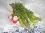 Fordel grøntsagerne på papiret.