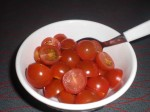 Servér med cherrytomater.