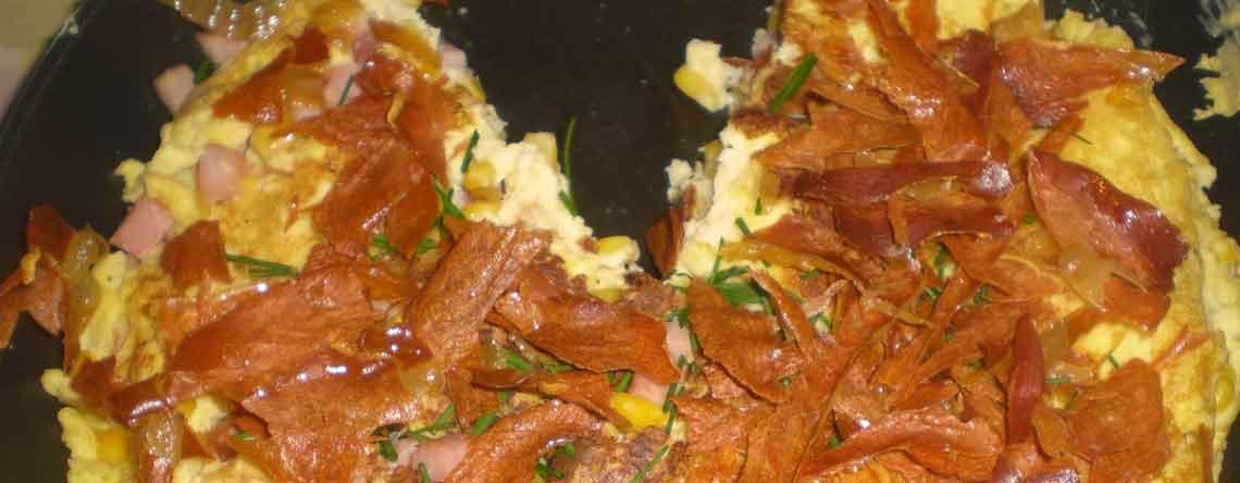 Æggekage med skinke