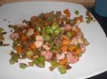 Tag de brunede grøntsager op.