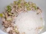 ...og bland den med porrer, champignon, hvidløg og kokos.