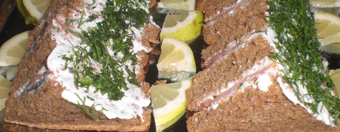 Sandwich med røget ørred