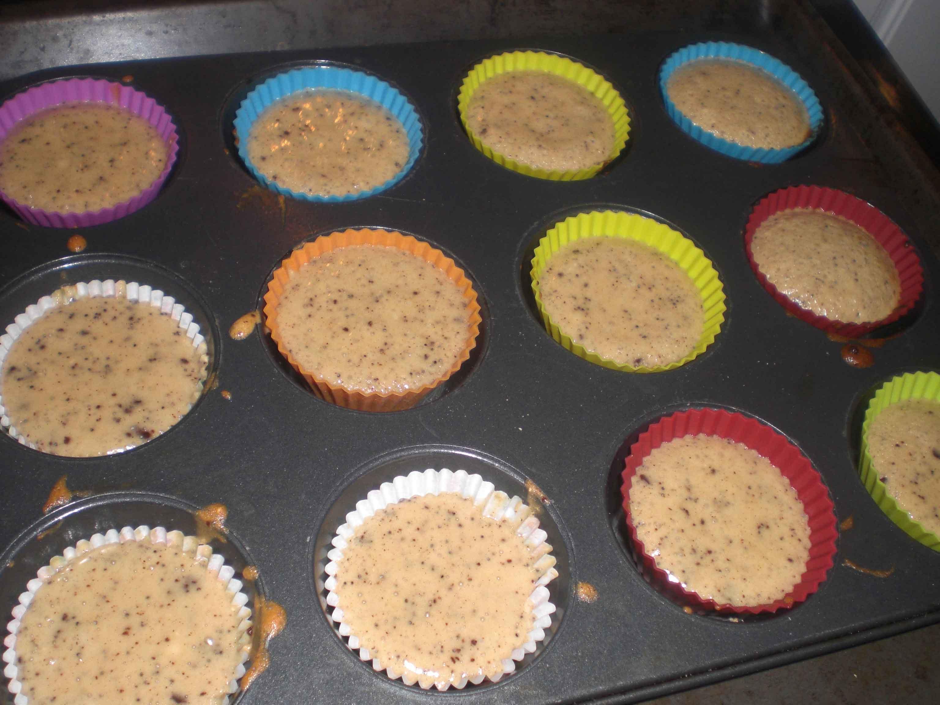 Bag muffinsene i ca. 20 minutter – afhængig af størrelse.