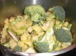 Skær kartofler og broccoli i mindre stykker.