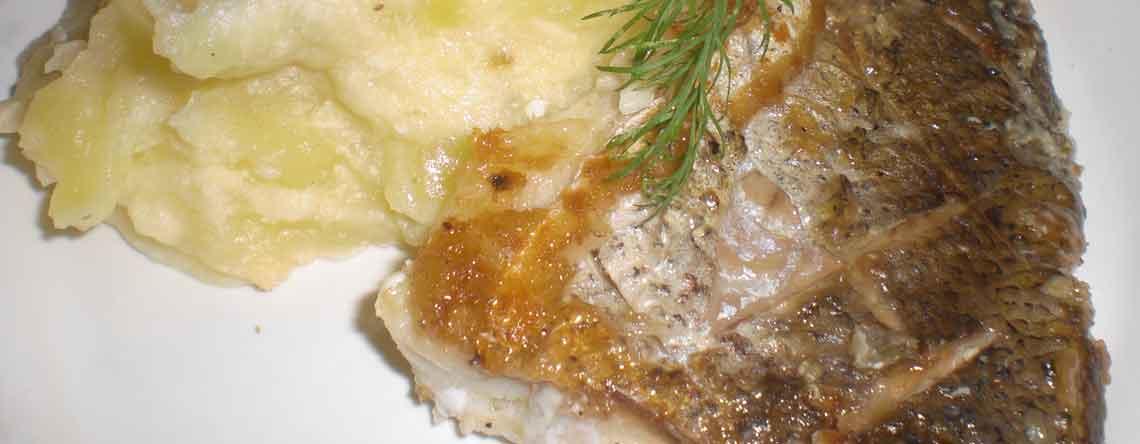 Kulmule og kartoffelmos med peberrod