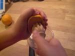 Pres appelsinsaft.