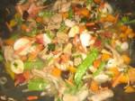 Tilsæt wokblandingen.