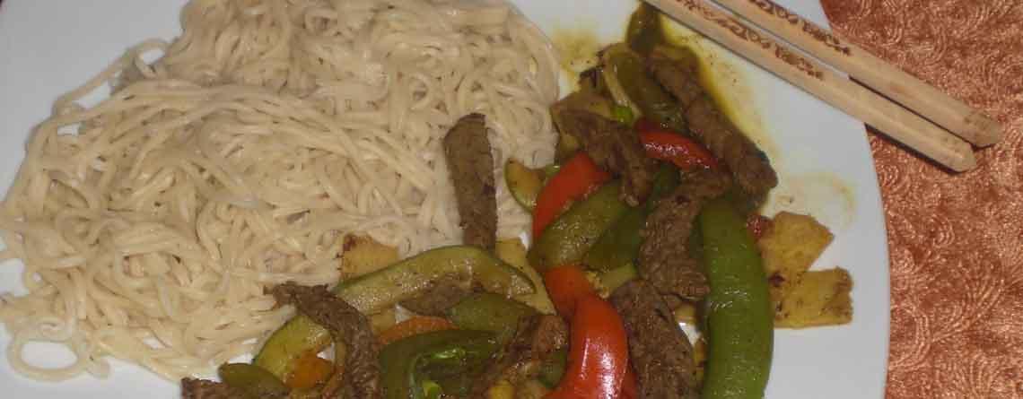 Oksekød i wok