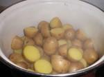 Damp kartoflerne tørre.