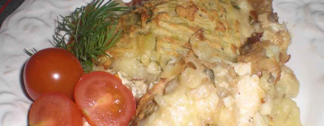 Torskegratin med savojkål og kartoffelmos