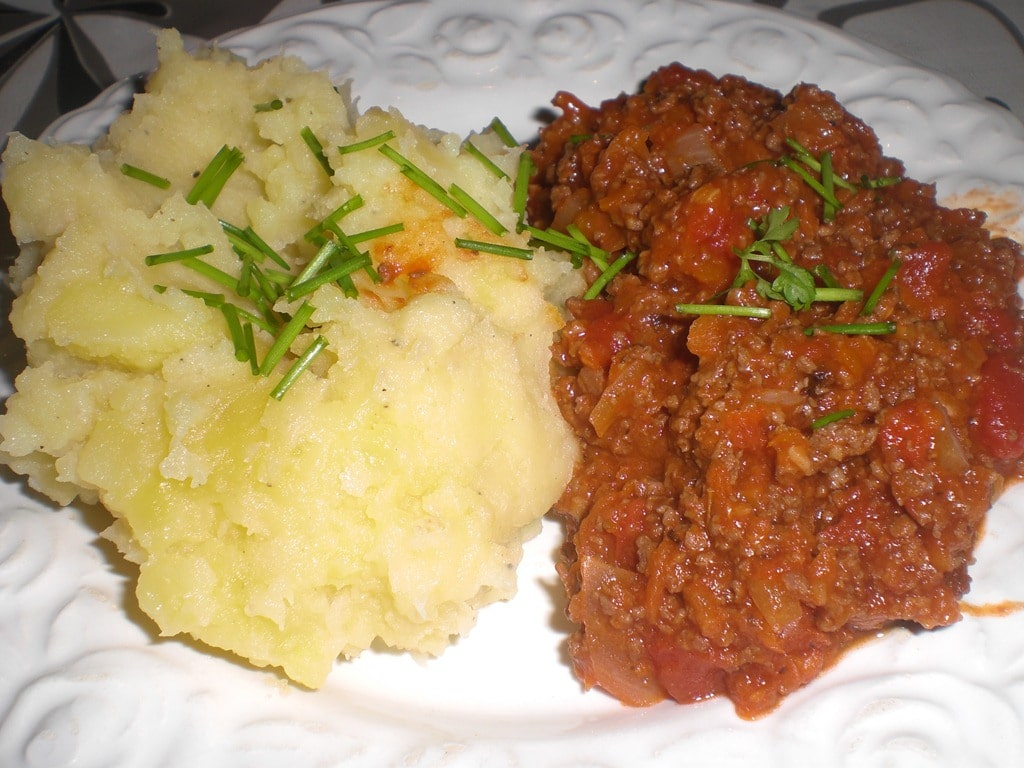 Hjertegryde med grov kartoffelmos