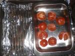 Stil fadet med tomaterne på risten.