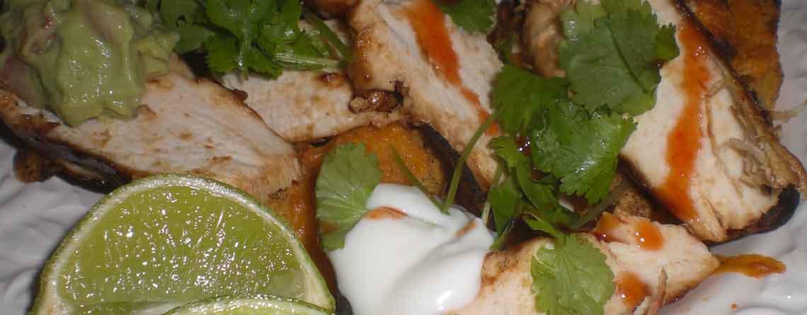 Nachos med kylling og guacamole