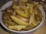 Steg kartoflerne i ovnen.