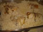 Anret ris sammen med fisken.