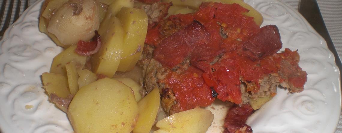 Farsfad med porrer og bacon
