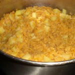 Mos kartofler og linser.