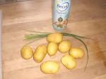 Tag ingredienserne til kartoflerne frem.