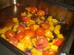 Bag grøntsagerne i ovnen.