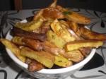Servér med kartoffelbådene.