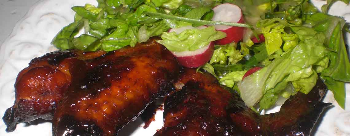 Hotwings med grøn salat