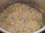 Tilbered chilikartoflerne.