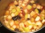 Kog frugterne til en mos.