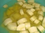 Hæld kogende vand over, og lad dem trække i 12 minutter.