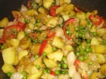 Bras kartofler og grøntsager.