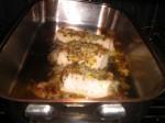 ½Sæt fisken i ovnen i ca. 12 minutter.
