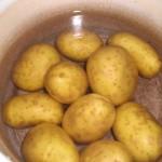 Skrub kartoflerne, og kog dem møre.